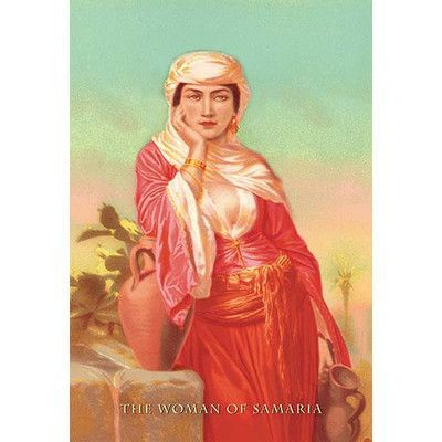 "Buyenlarge The Woman of Samaria Painting Print Size: 42"" H x 28"" W x 1.5"" D"