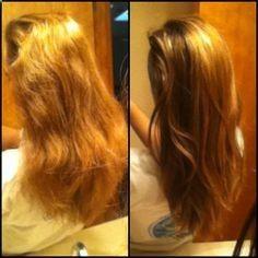 Derretir 3 cucharadas de aceite de coco y mezclar con un huevo. Ponlo en tu cabello durante 40 minutos , luego lavar el cabello. Definitivamente vale la pena!