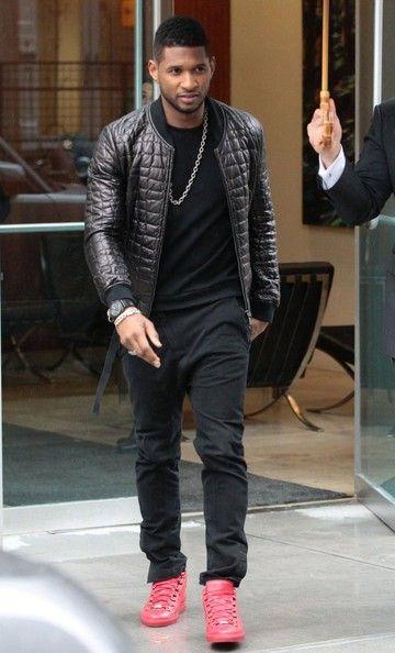 Usher Leather Jacket Ushers