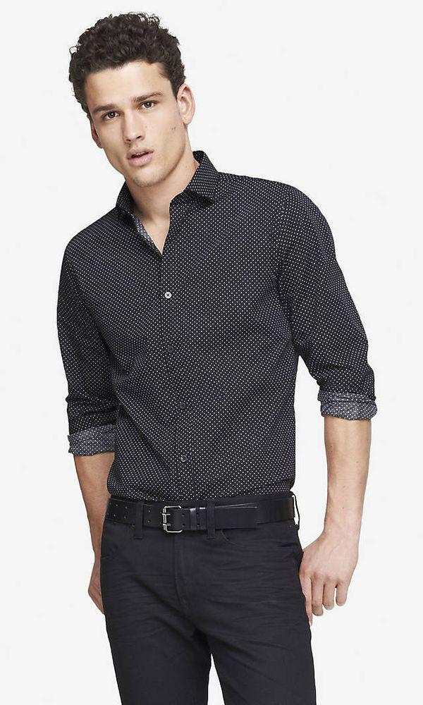 GAGA Mens Solid Dress Shirts Slim Fit Long Sleeve Button Down Shirts