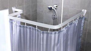 Tenda Per Vasca Da Bagno Piccola : Bastone per tenda doccia asta di angolo a pressione della ebay