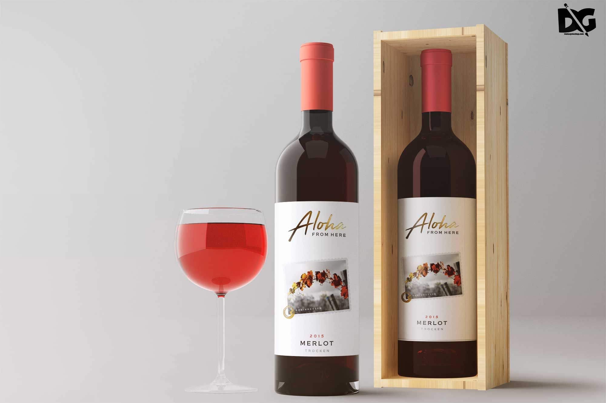 Download Free Open Box Wine Label Mockup | Wine box, Wine, Wine ...