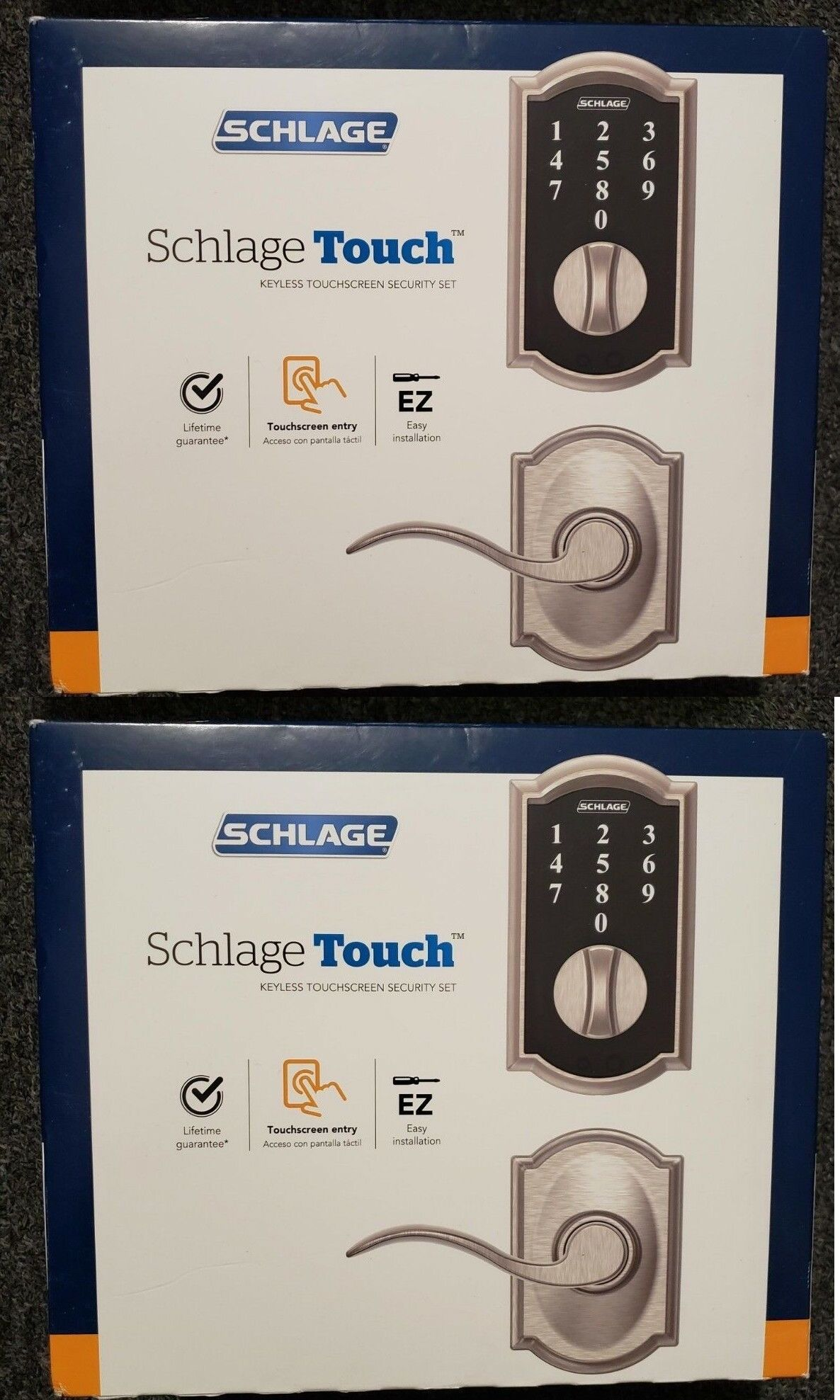 Door Locks And Lock Mechanisms 180966 Schlage Touch Century Satin Nickel Mechanical Electronic Entry Door Deadbolt Buy It Now O Schlage Deadbolt Door Locks