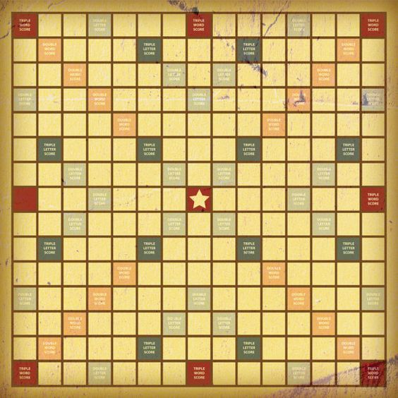picture relating to Printable Scrabble Board Pdf identified as Common-wanting Scrabble Board - Printable PDF:  Arts