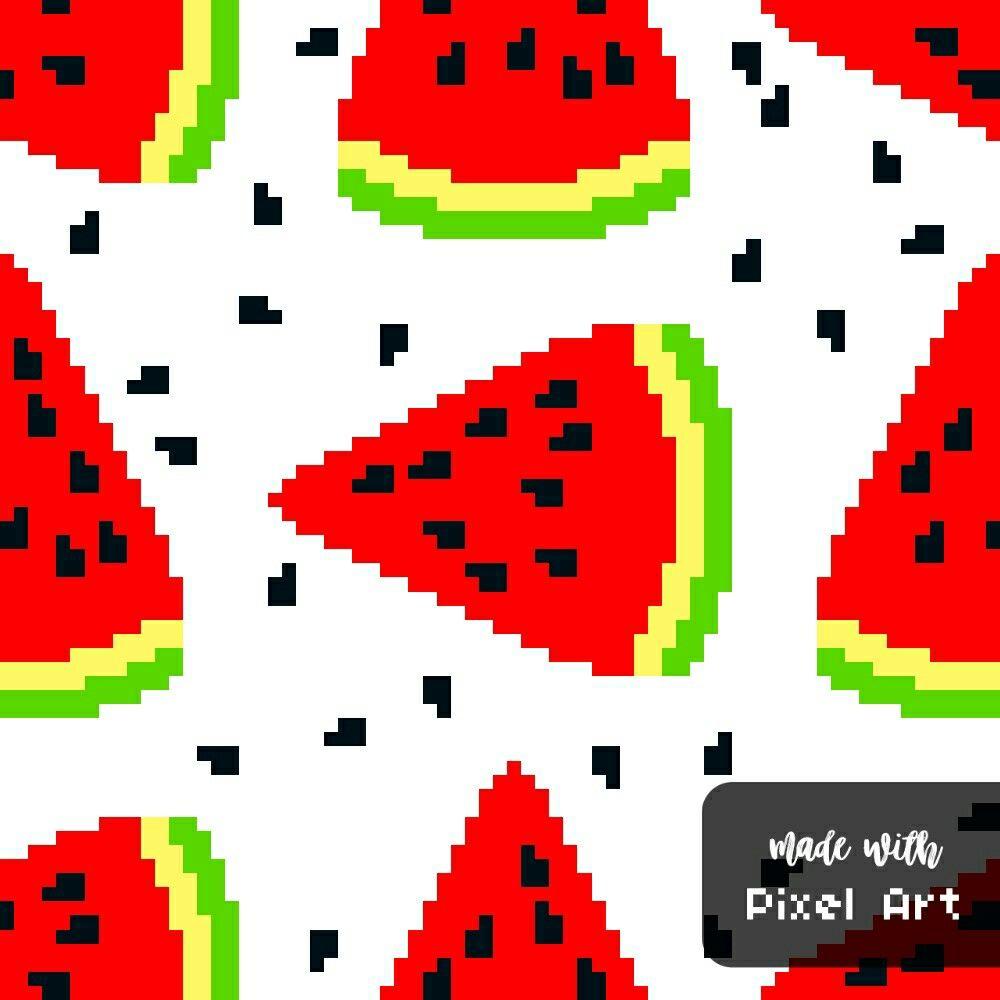Fond De Pastèque En Pixel Art Réalisé Avec L Application