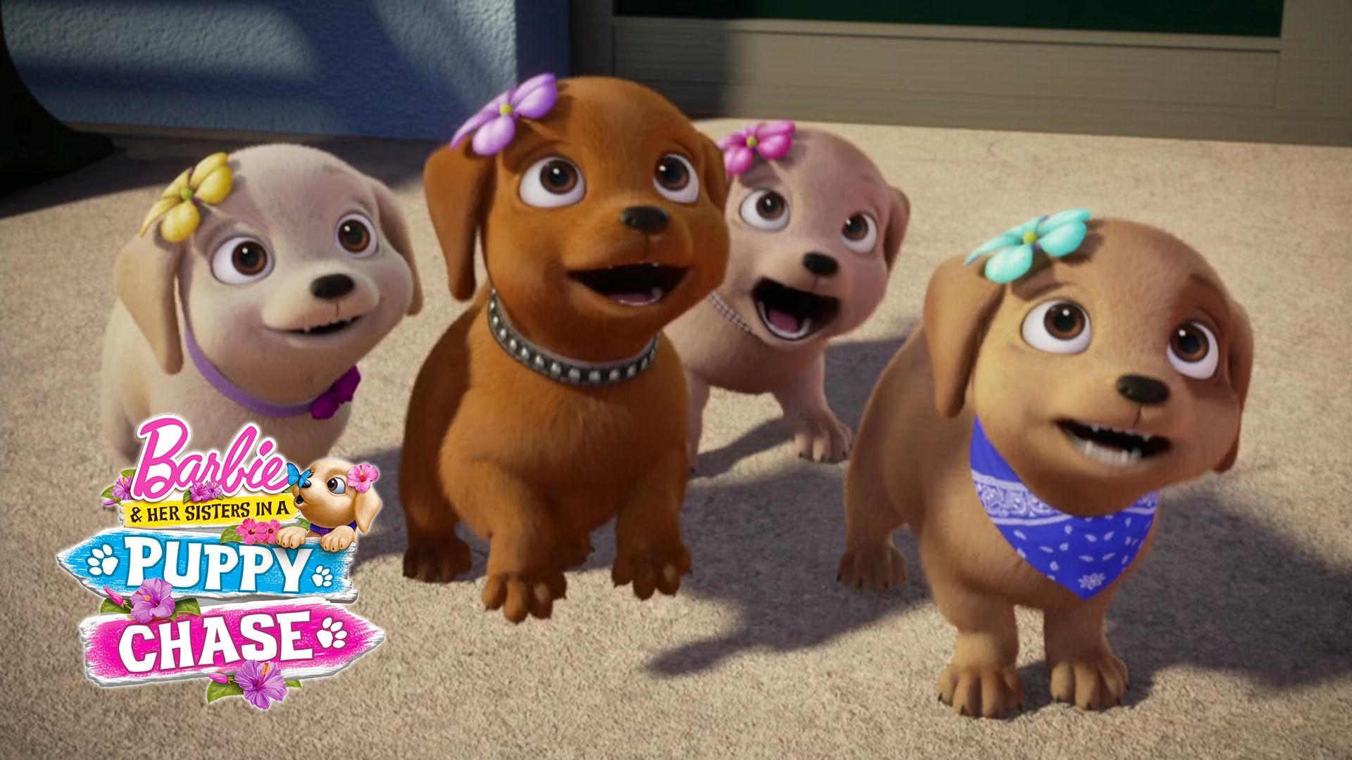 Barbie Her Sisters In A Puppy Chase Teaser Barbie Barbie And Her Sisters Barbie Movies Disney Princess Modern