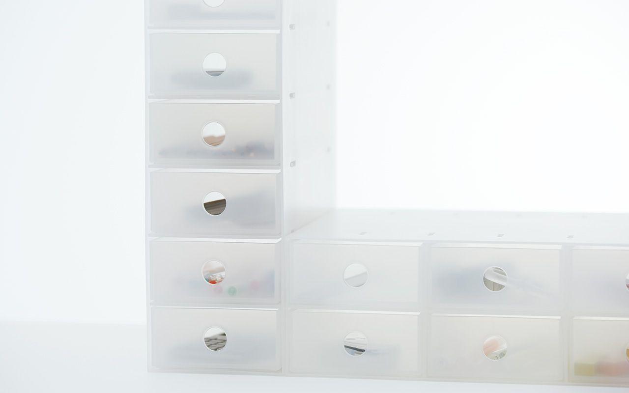 ポリプロピレン小物収納ボックス6段・A4タテ 約幅11×奥行24.