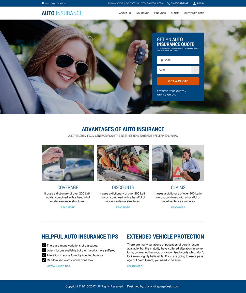 Auto Insurance Html Website Design Added To Buylandingpagedesign Com Car Insurance Insurance Website Umbrella Insurance