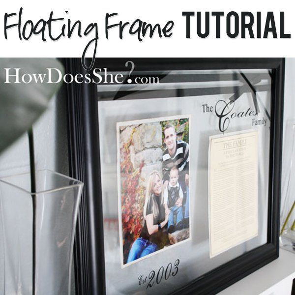 diy ideas this floating frame - Diy Floating Frame