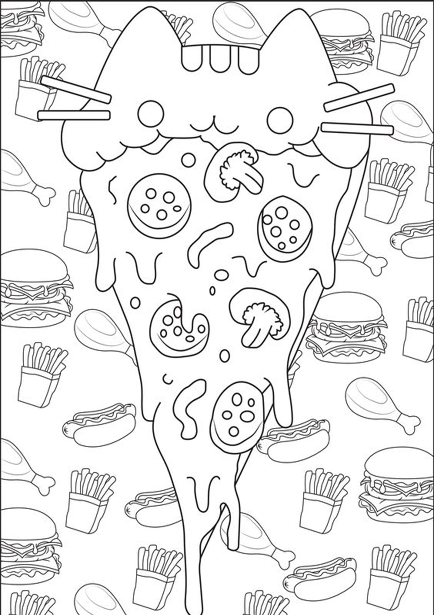 Free Easy To Print Pizza Coloring Pages Pusheen Coloring Pages Cute Coloring Pages Puppy Coloring Pages