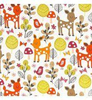 992a77e70b06 acorn forest - deers in sweet - designer pamut méteráru | varrós ...