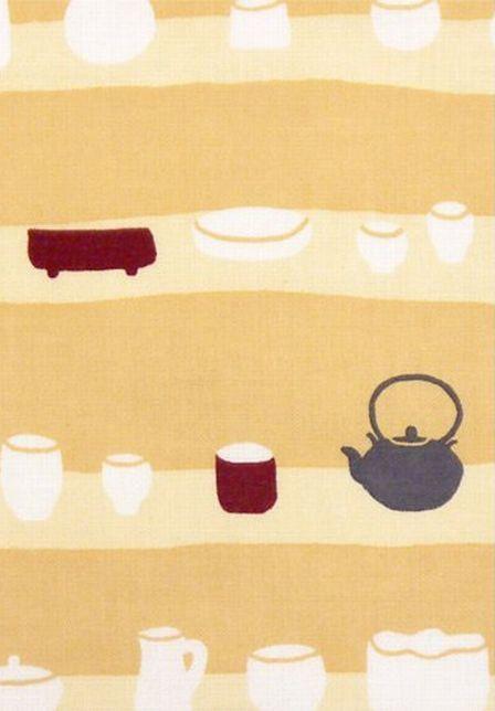 Japanese Tenugui Towel Cotton Fabric, Bowl Store, Teacup, Iron ...