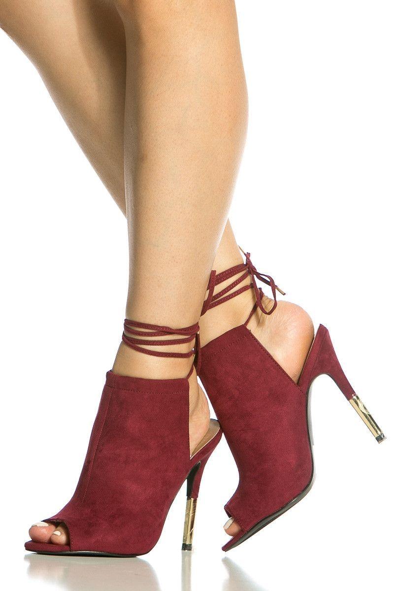 Amore Heels Sandalo – Burgundy scarpe Pinterest scarpe High