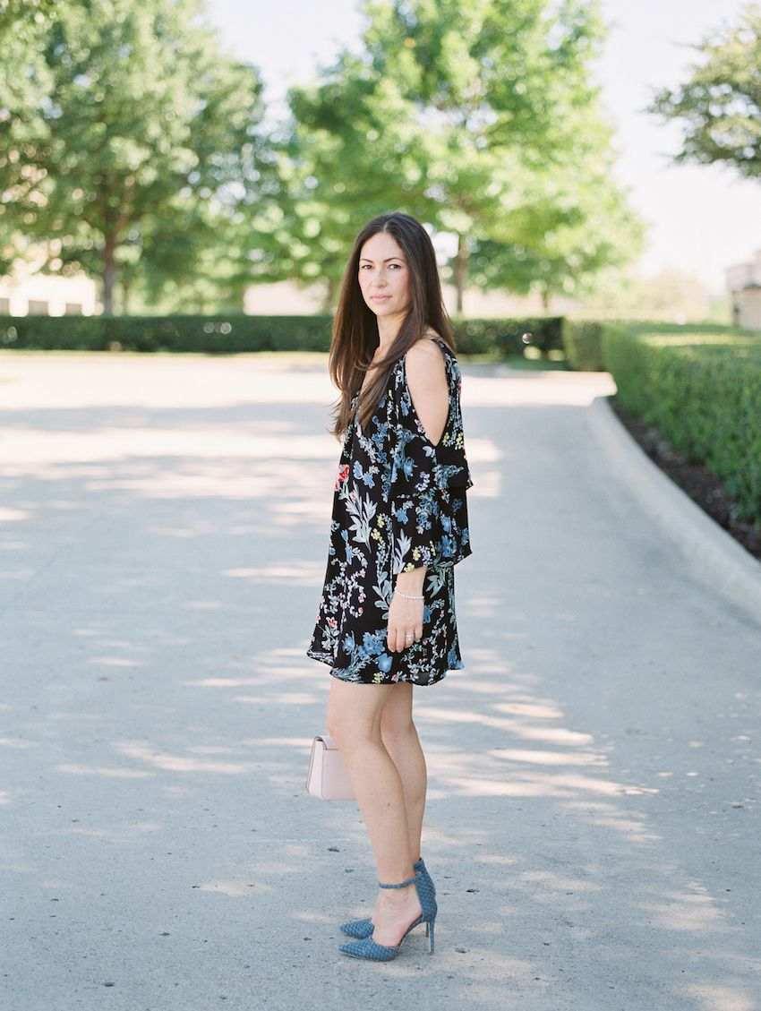 Black x floral long sleeve dresses from nordstrom for fall