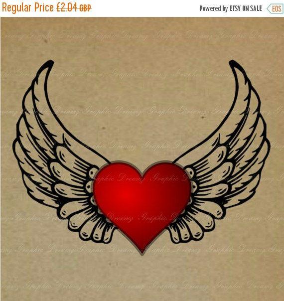 Sale 55 Off Winged Heart No Mj37 Digital Image Tatuaje Corazon Con Alas Corazon Con Alas Dibujos De Corazones