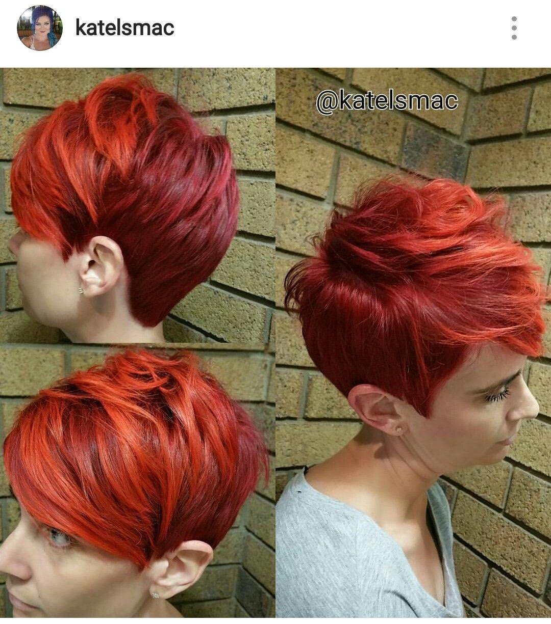 Frauen haare rote kurze Ganz Kurze