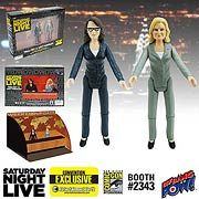Saturday Night Live Weekend Update Tina Fey & Amy Poehler 3 1/2-Inch Action Figures - Convention Exclusive Not Mint