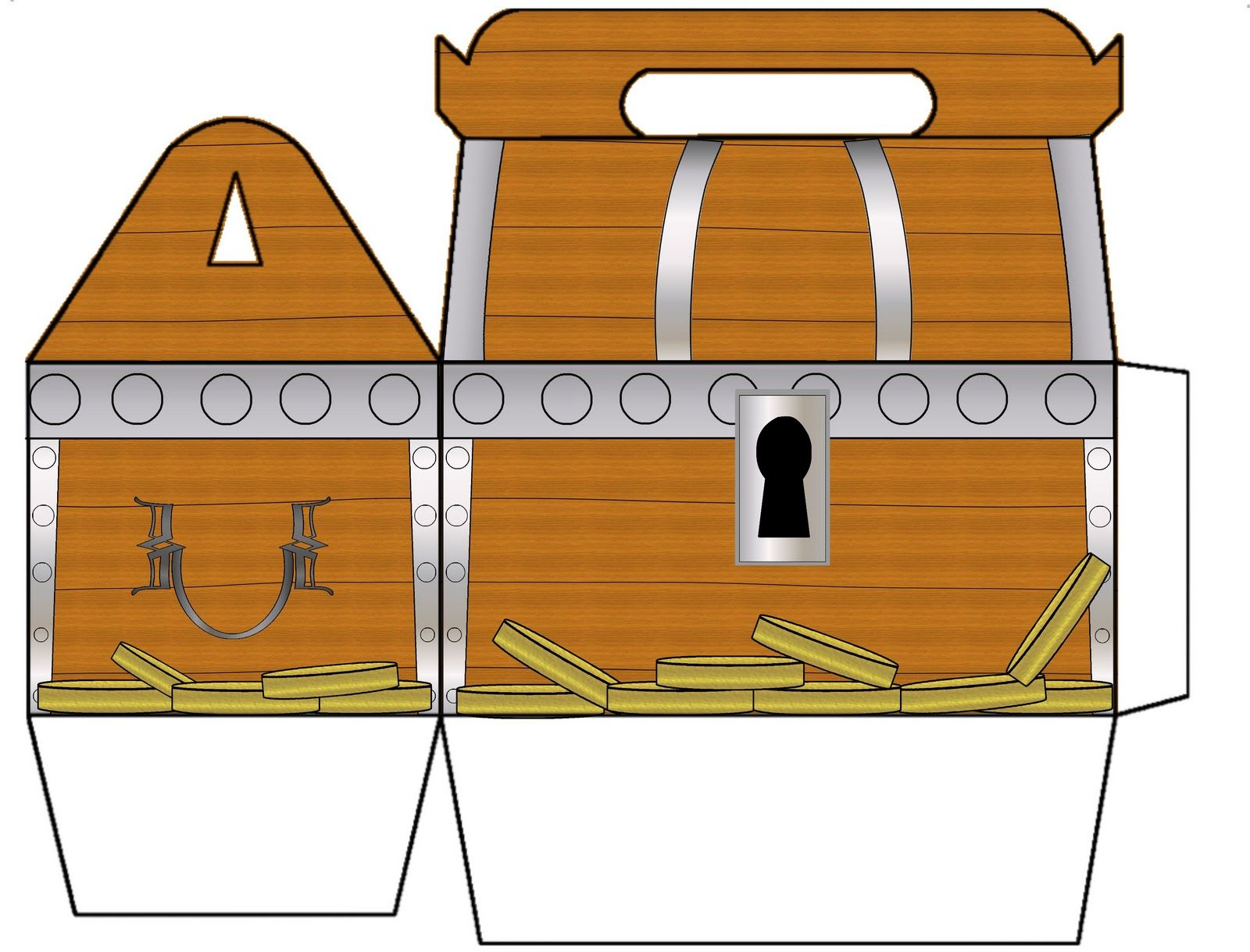picture about Treasure Chest Template Printable named Wrapped For Everyday living: Treasure Upper body Gable Box Noahs 3rd