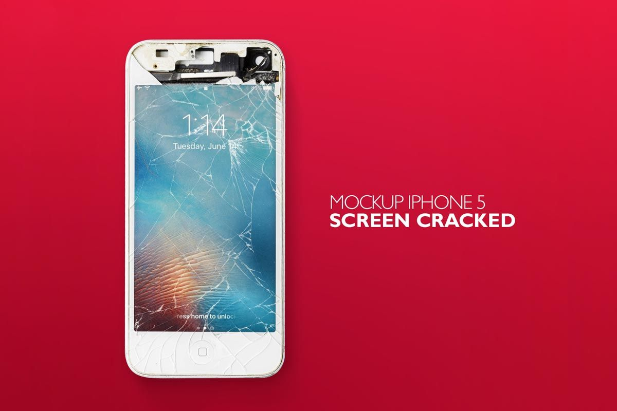 Download Free Iphone Screen Cracked Mockup Cracked Iphone Iphone Mockup Iphone Mockup Psd