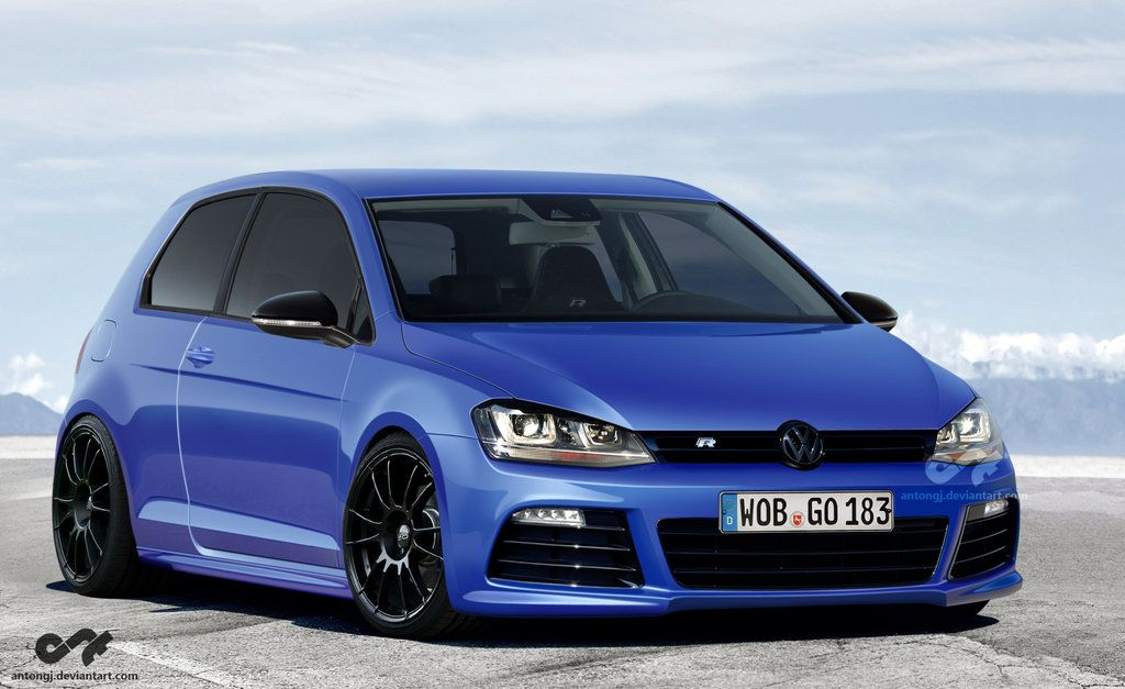 vw golf r mk7 automotive renderings pinterest golf and cars. Black Bedroom Furniture Sets. Home Design Ideas