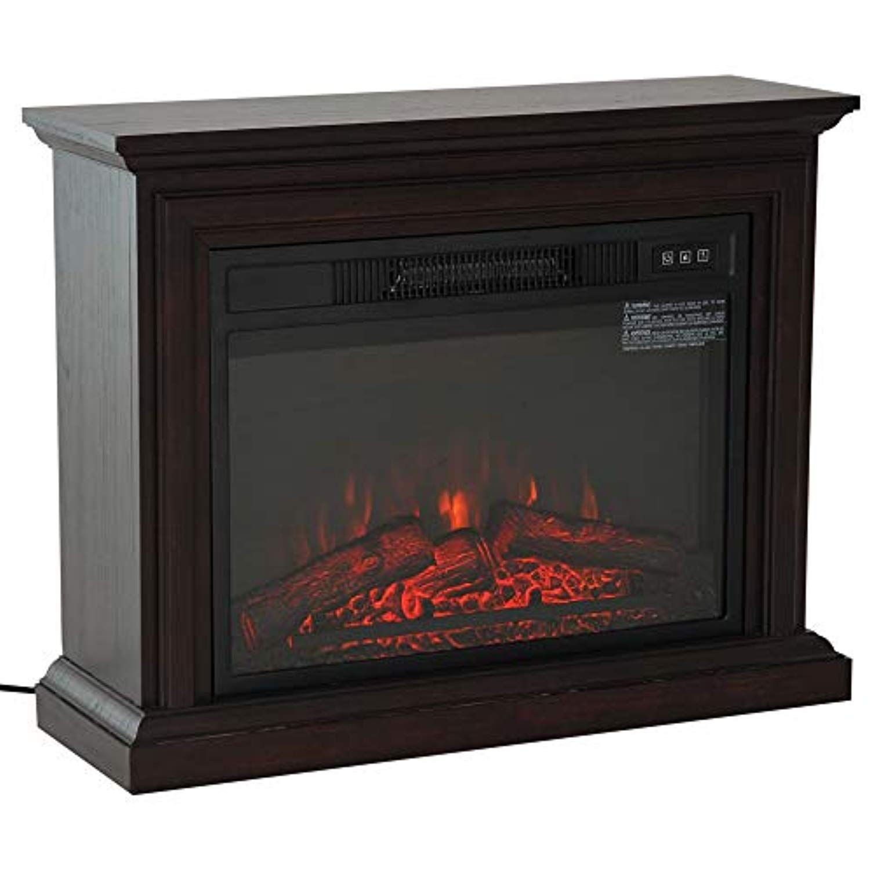 Homcom 31 1400w Freestanding Portable 3d Led Electric Fireplace Mantel Heater Stove Dark Coffee Electric Fireplace Fireplace Portable Electric Fireplace