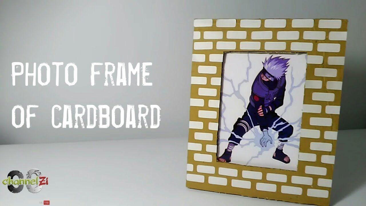 Photo Frame Of Cardboard Kakashi Bingkai Foto Kreatif Bingkai