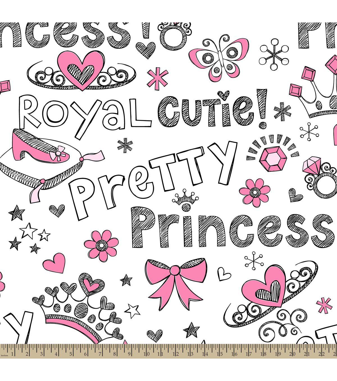 Antipill fleece fabricpretty princess pink pink princesses and