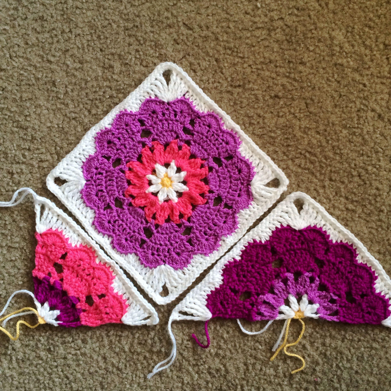 Cuadrado, triángulo - Heart Mandala: Quarter-Square Pattern ...