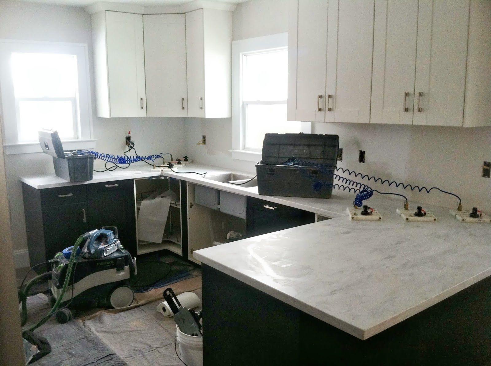 Genial Danks And Honey: Kitchen Renovation | Solid Surface Countertops. Corian  Rain Cloud