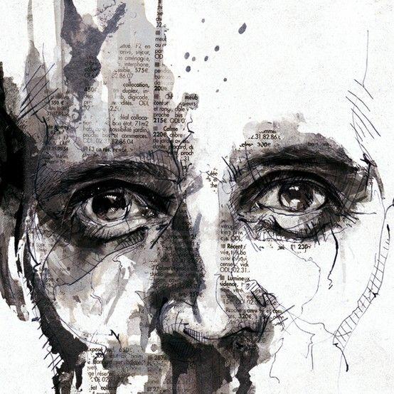 Mixed Media Inspirational Artwork Portrait Dessin Dessin