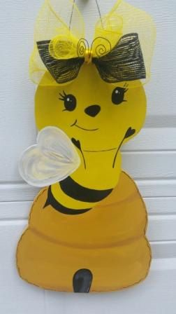 Cute Bee Teacher Door Hanger by MoniLulis on Etsy, $35.00