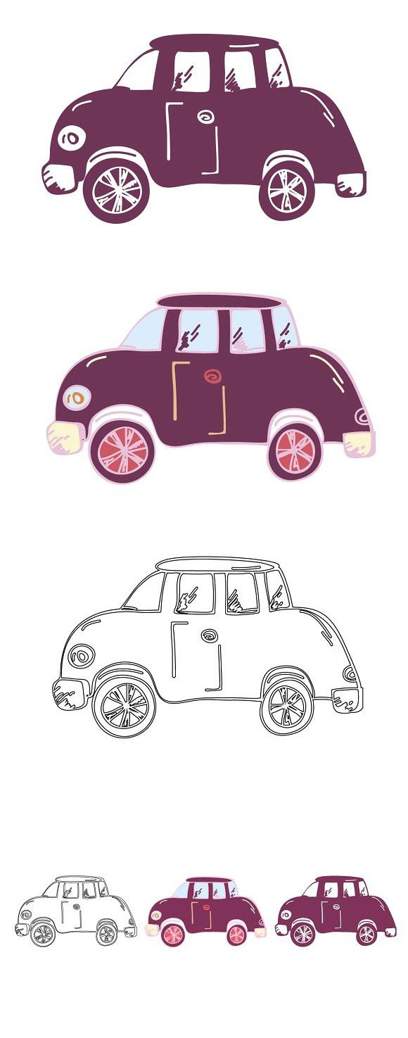 Cartoon Car Outline