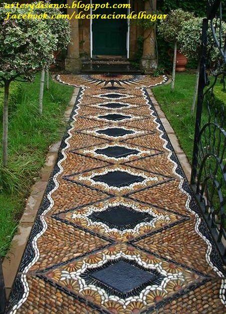 Pisos con piedras para jardines by for Pisos de jardines exteriores