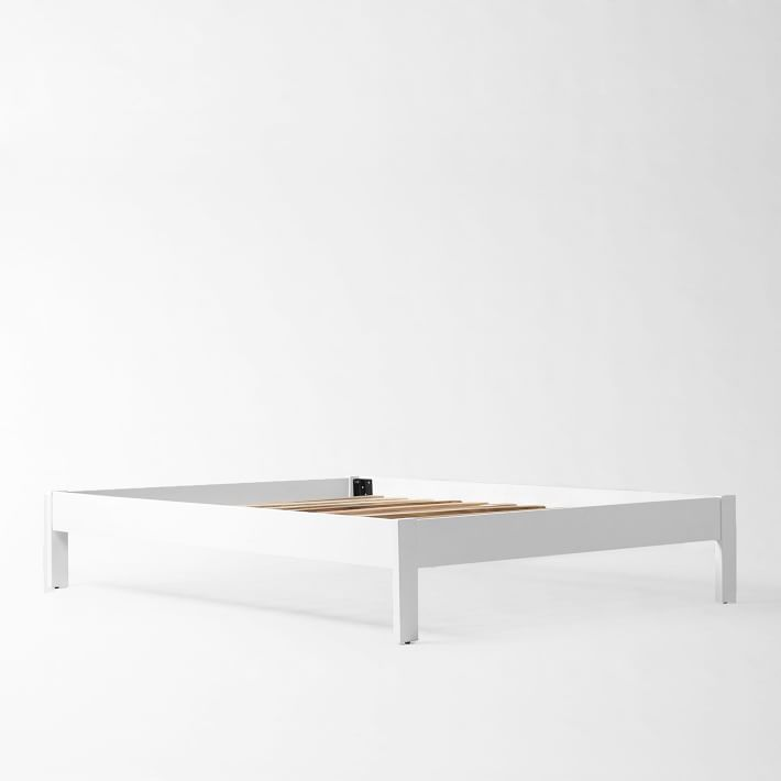 Best Simple Bed Frame Twin White Lacquer In 2020 Simple Bed 640 x 480