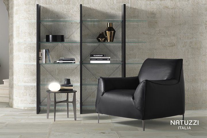 Natuzzi Proxima Is A Le Free Standing Bookcase Characterised By Metal Parts Support