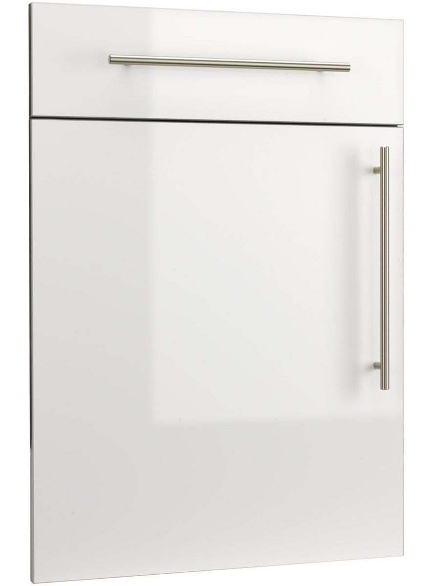 High Gloss White Pvc Edged Door Replacement Kitchen Doors High