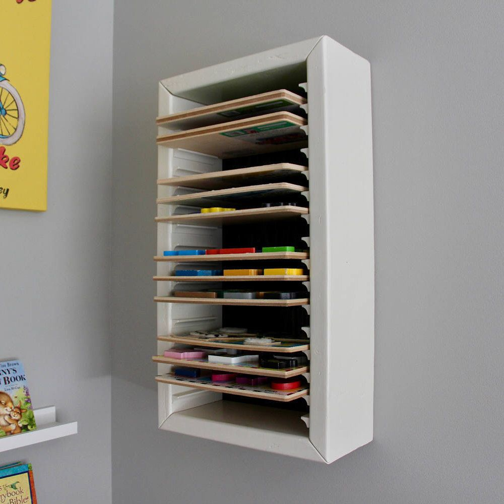 Puzzle Storage, Wood Puzzle Shelf, Kids Puzzle Storage, Playroom ...