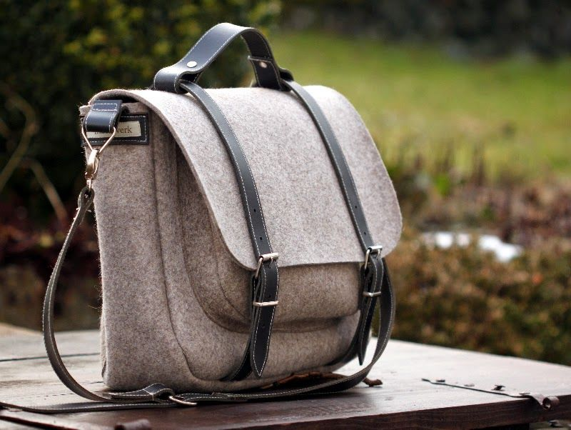 Philine- eine Collegetasche aus Wollfilz (machwerk) | Sewing ...