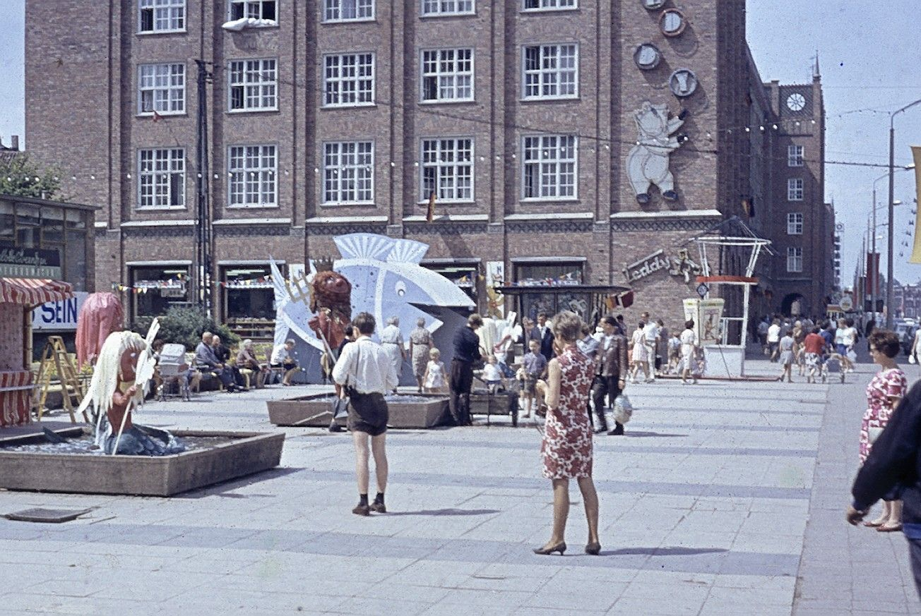 Lange Straße, Rostock, 1967, DDR