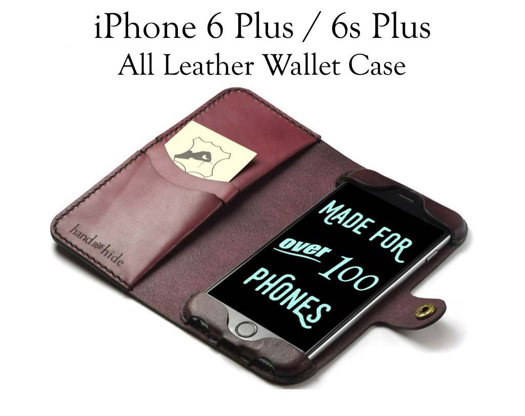 iPhone 6s Plus Leather Wallet Case/ Leather iPhone by HANDandHIDE