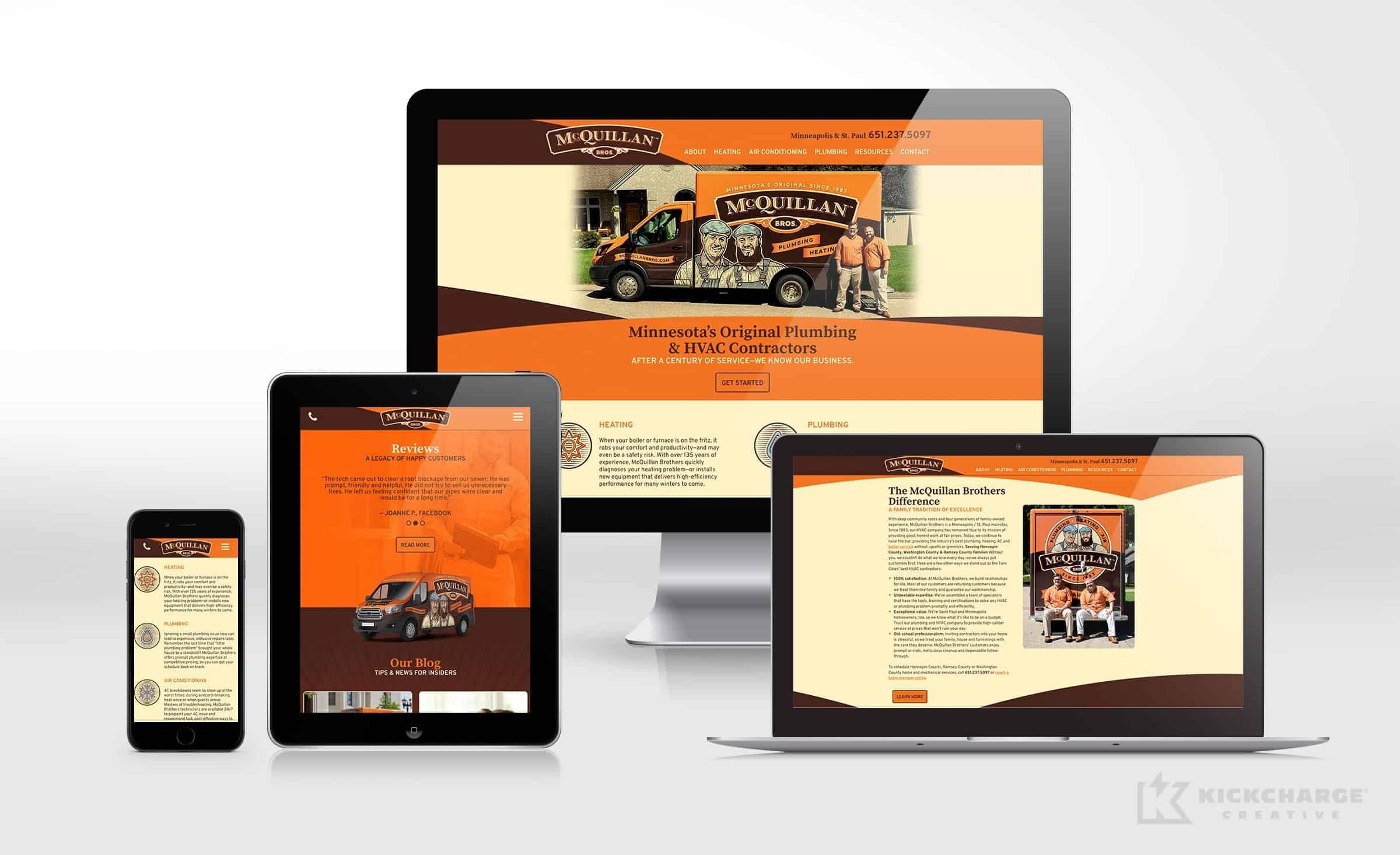 Website Design Development For Mcquillan Bros Plumbing Heating Air Nj Advertising Agency Nj Ad Plumbing Problems Hvac Contractor Portfolio Web Design