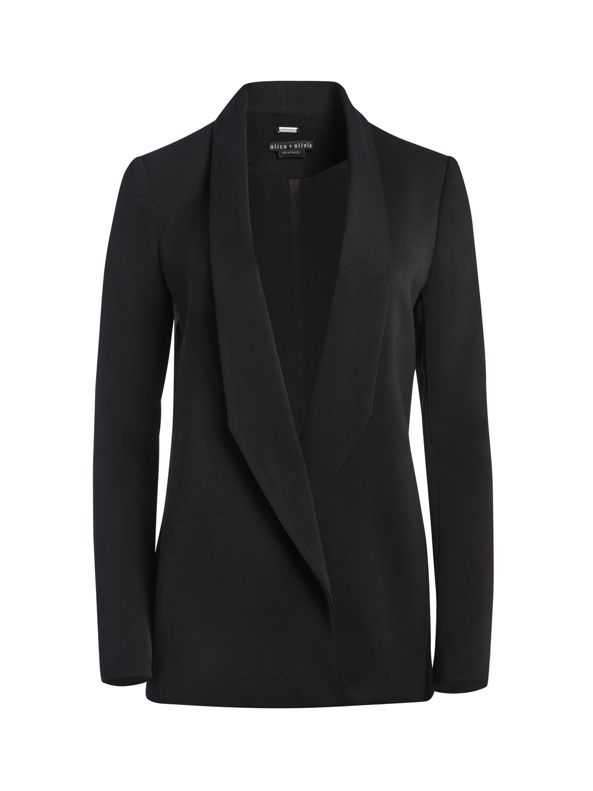 Xavier Draped Blazer Alice Olivia Blazer Outfits For Women Draped Blazer Blazer [ 2667 x 2000 Pixel ]
