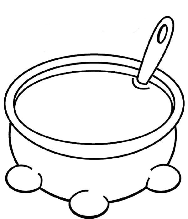 pots coloring pages | Soup Pot Coloring Page | Bible school crafts, Preschool ...