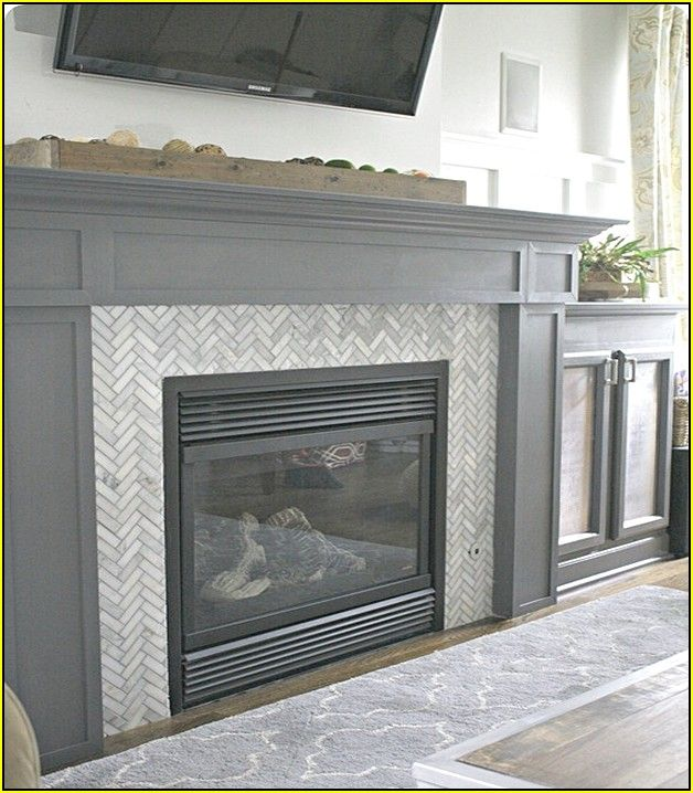 Herringbone Subway Tile Fireplace Subway Tile Fireplace