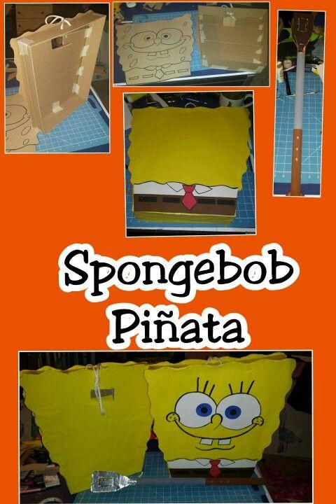 Diy Spongebob Pinata Birthday Party 9th Parties