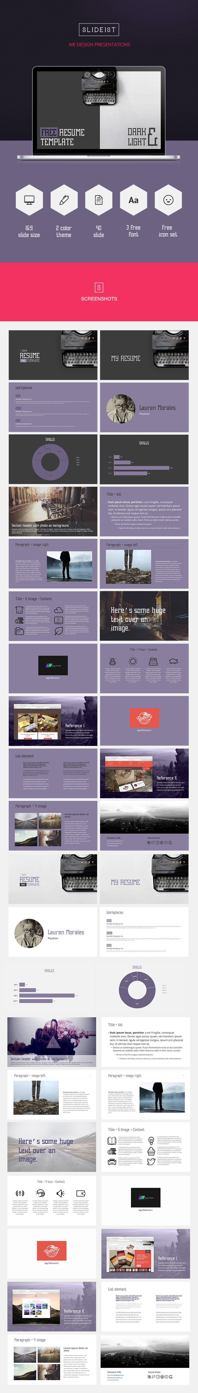 Powerpoint Resume Resume  Free Powerpoint Presentation Template  9  Web  Ui  Ux