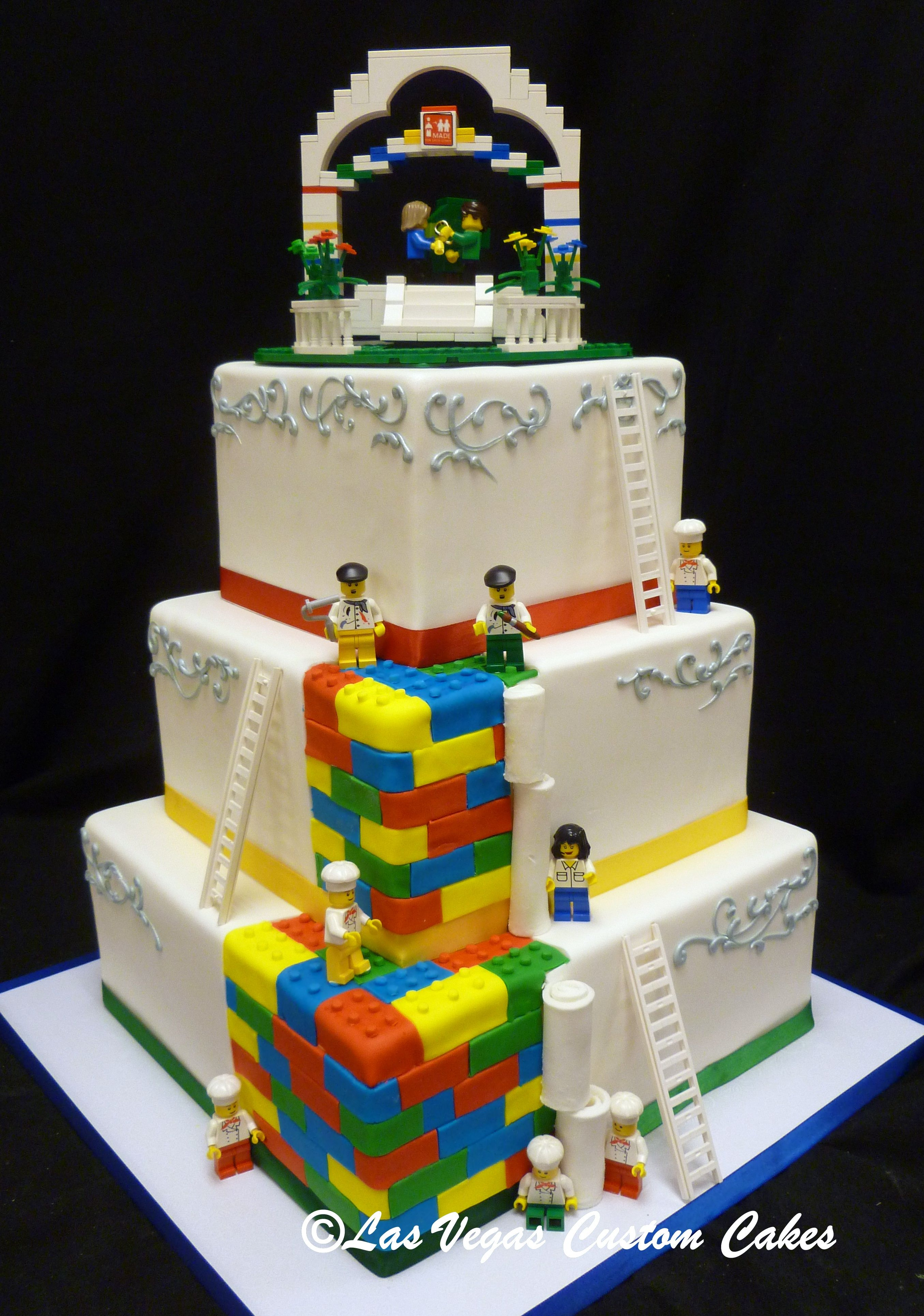 Lego Themed Wedding Cake by Las Vegas Custom Cakes Wedding Cakes