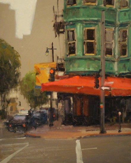 Corner of Kearny & Columbus, San Francisco by Brian Blood - Oil