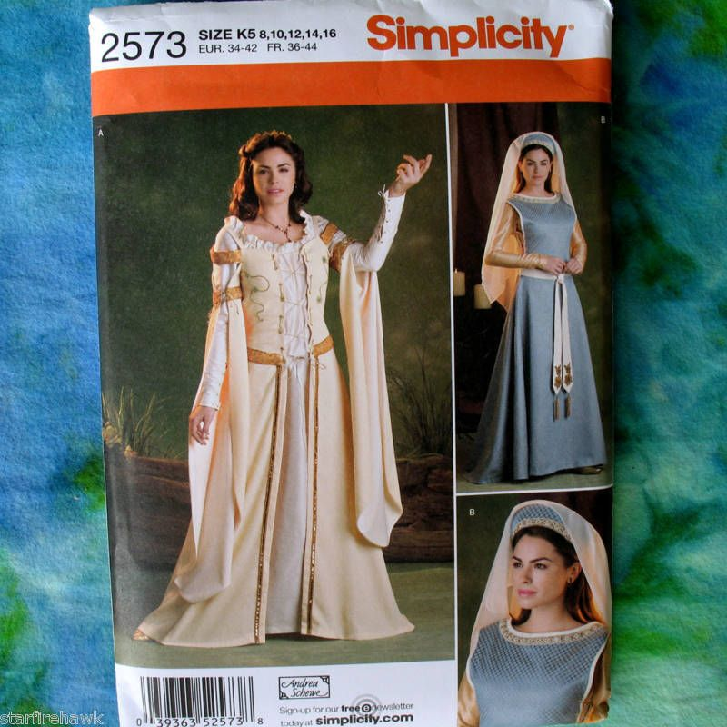 Simplicity K5 8-10-12-14-16 Sewing Pattern 2573 Misses Costumes