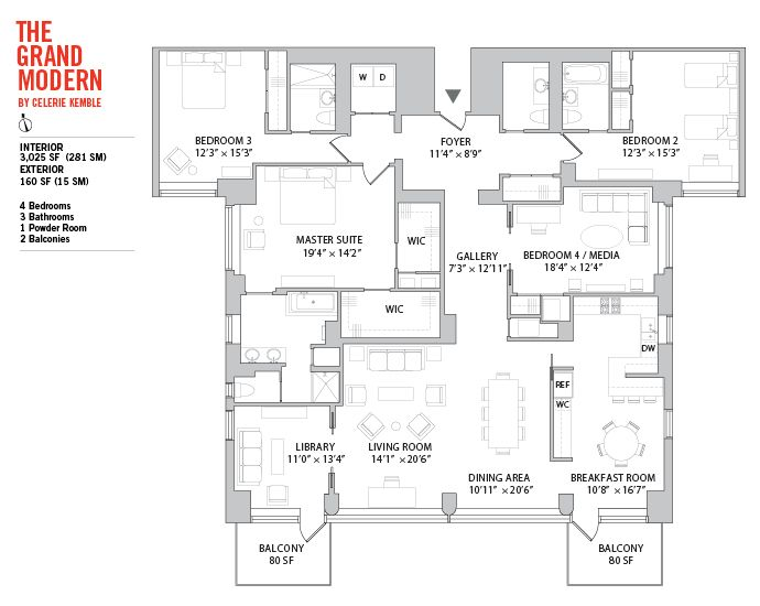 Manhattan house the modern9 floor plan floor plans for Floor plans manhattan apartment buildings
